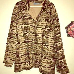 Animal inspired fashion plus size jacket 4XL